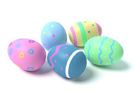 3d illustration of Easter Eggs