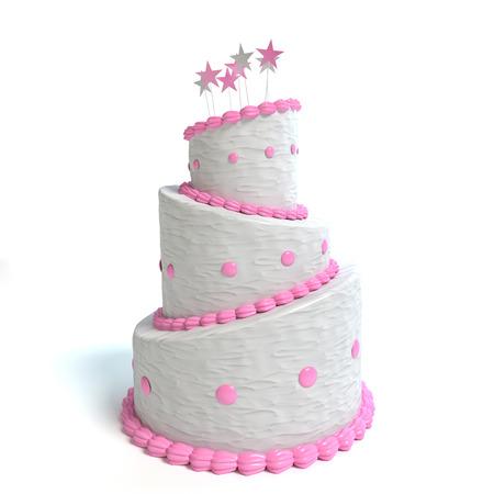 3d illustration of a cake Imagens