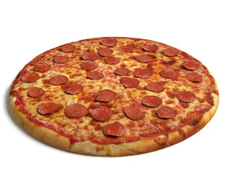 3d illustration of a pizza
