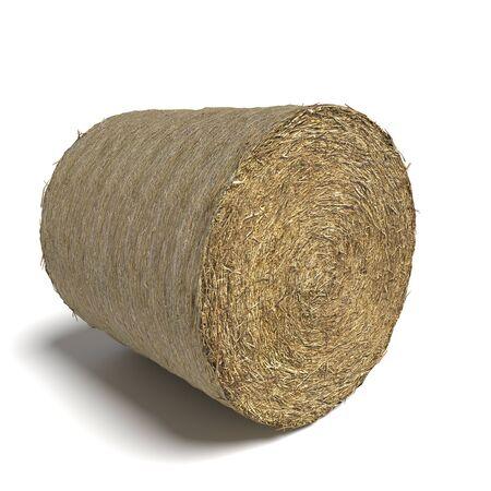 3d illustration of a hay bale