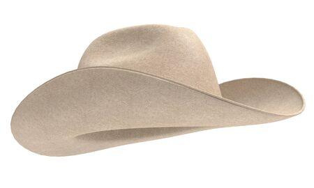 3d illustration of a cowboy hat