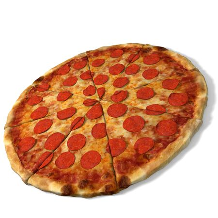 3d pizza: 3d illustration of pizza Stock Photo