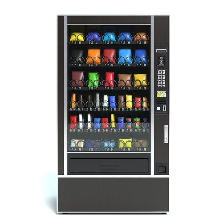 3d illustration of a vending machine