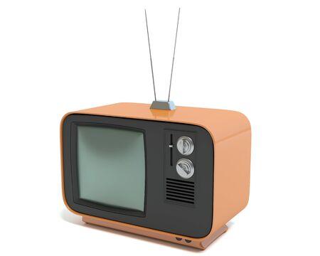 3d illustration of a retro TV Imagens