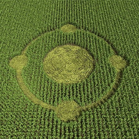 3d illustration of a crop circle 免版税图像