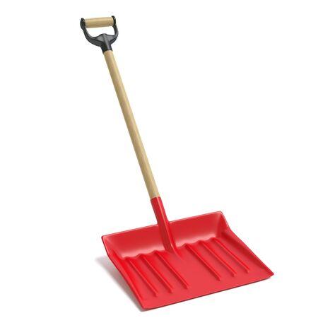 3d illustration of a snow shovel