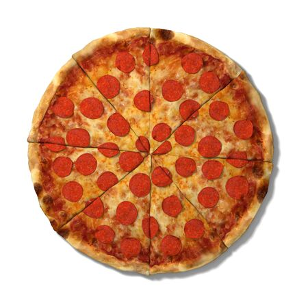 3d pizza: 3d illustration of a pizza