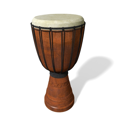 djembe drum: 3d illustration of a djembe drum
