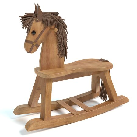 3d illustration of a rocking horse