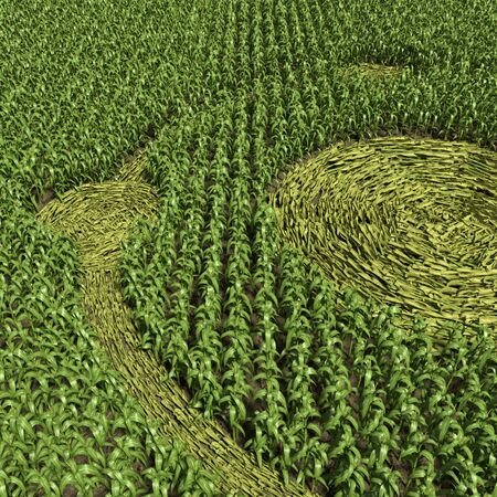 3d illustration of a crop circle Stock Photo