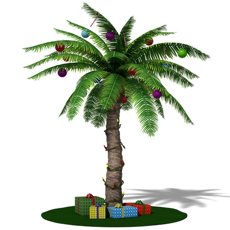 3d illustration of a Christmas palm tree Stock Photo