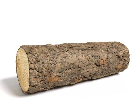 3d illustration of a wood log