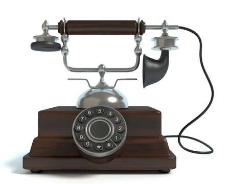 antique phone: 3d illustration of an antique phone