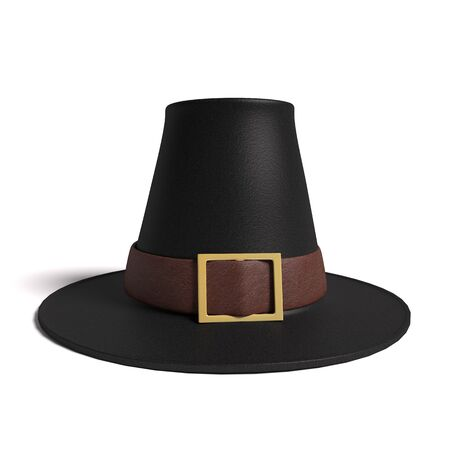 pilgrim costume: 3d illustration of a pilgrim hat