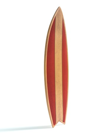 3d illustration of a surfboard