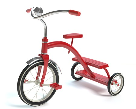 3d illustartion of a tricycle