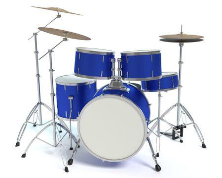 3d illustration of a drum set