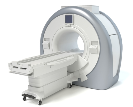 3d illustration of an MRI machine