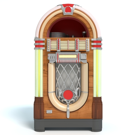 3d illustration of a jukebox 免版税图像