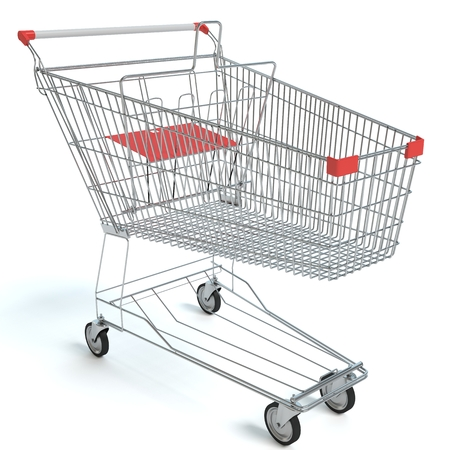 3d illustration of a shopping cart Imagens - 60261230
