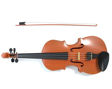 3d illustration of a violin 免版税图像