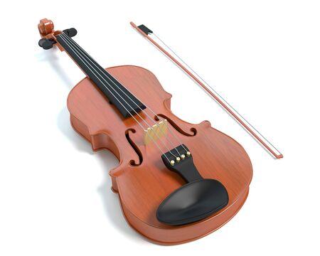 バイオリンの 3 d 図