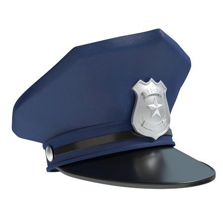 警察の帽子の 3 d イラストレーション