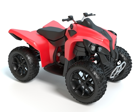 3d illustration of a 4 wheeler