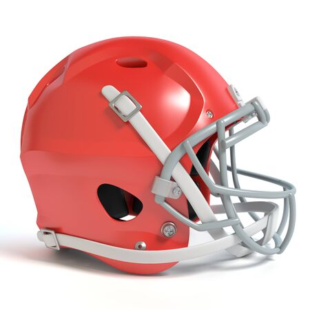 3d illustration of a football helmet 免版税图像