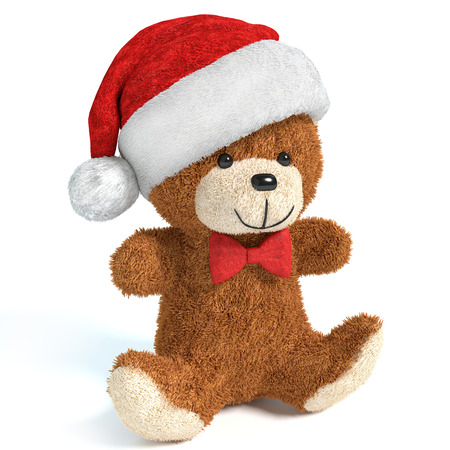 3d illustration of a Christmas Teddy Bear