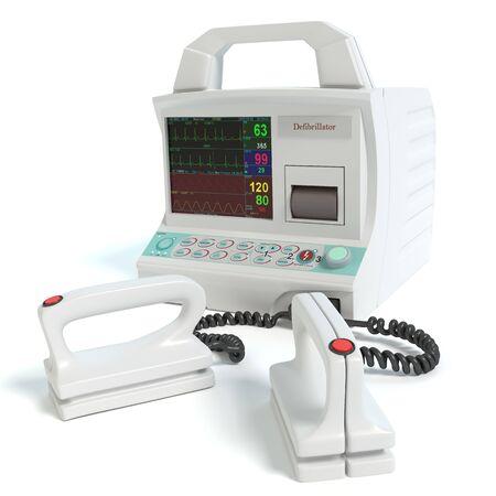 3d illustration of a defibrillator