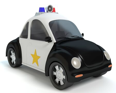 Cartoon Police Car 免版税图像