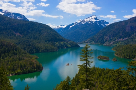 Diablo lake. North Cascades National Park, Washington, USA photo