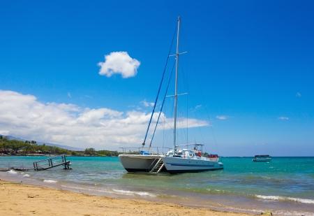 Catamaran at Waikoloa Beach, Big Island, Hawaii
