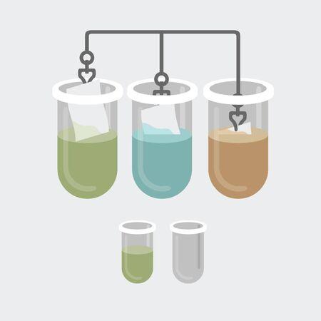 Test-buizen experiment Stock Illustratie