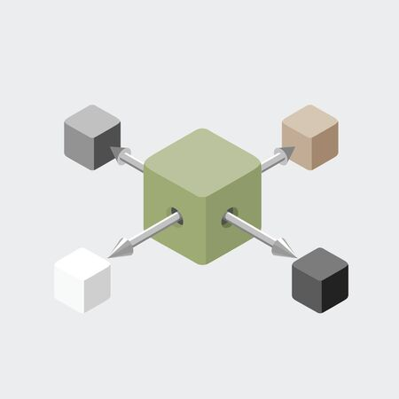 Cube extraction illustration