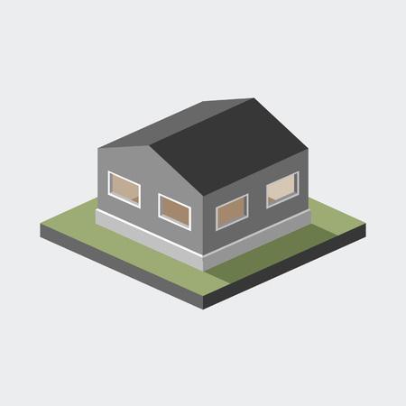 토지의 샘플에 간단한 3d 집