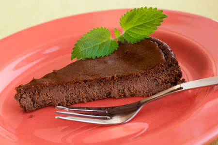 Chocolate cake with ricotta and mint Stock Photo - 7700668