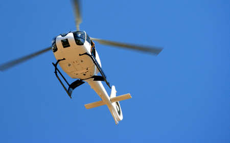 airfoil: A picture of a police chopper hovering at an airshow in South-Africa, Tzaneen