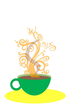cup of coffee, vector,  illustration Vector