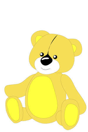 snarling: Childrens toy, bear,Vector, illustration