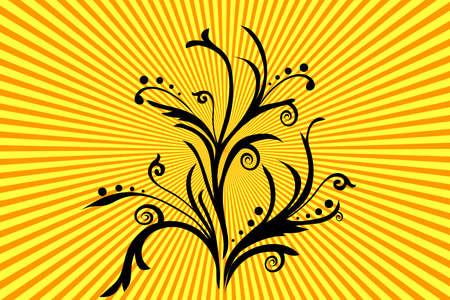 flora, flower, background, vecror, illustration,  abstract Stock Vector - 3109153