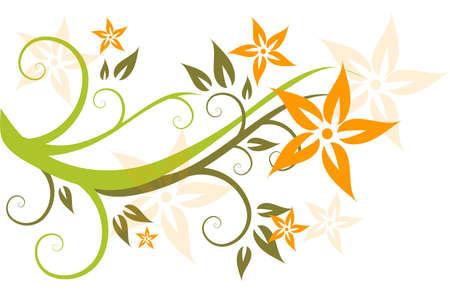 flora, flower, background, vecror, illustration,  abstract Stock Vector - 3109154