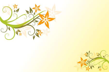 flora, flower, background, vecror, illustration,  abstract Stock Vector - 3109162