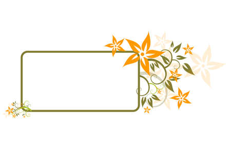 flora, flower, background, vecror, illustration,  abstract Stock Vector - 3109160