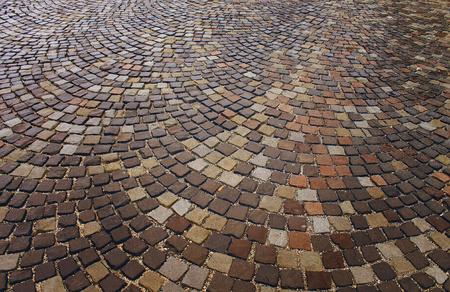 cobblestone: cobblestone, stone pavement texture in the city Stock Photo