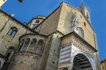 Beautiful ancient temple in the center of Bergamo in Italy.