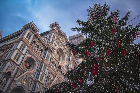 Christmas tree near Santa Maria del Fiore, the main church of Florence.