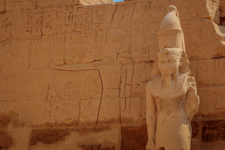 The temple of Ramses III is an important structure of the New Kingdom period in the West Bank of Luxor in Egypt