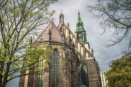 Beautiful St. Marys Church Marienkirche in Berlin, Germany.